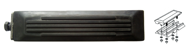McTrack bolt-on rubber pad