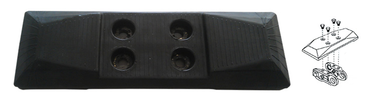 McTrack chain-type rubber pad