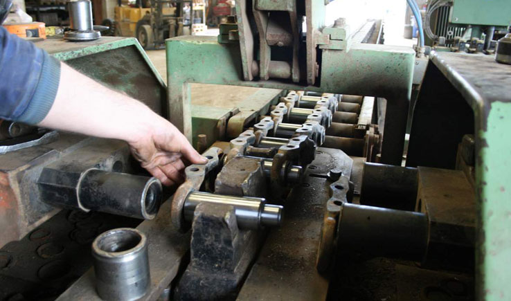 Get the maximum life span from your Track Chain by replacing the Pin & Bushing parts.
